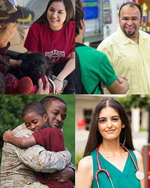 A variety of Social Work images.